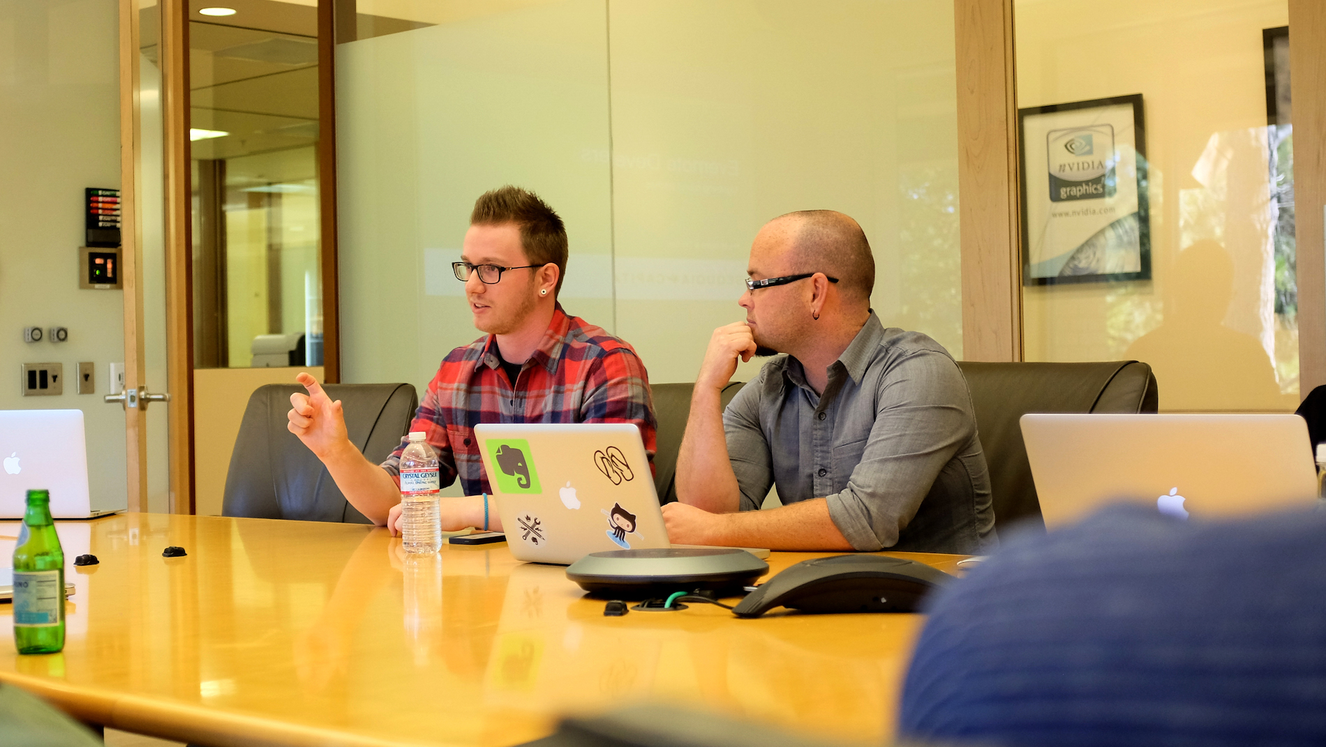 Gavin Vickery and I prepping for the Sequoia pitch