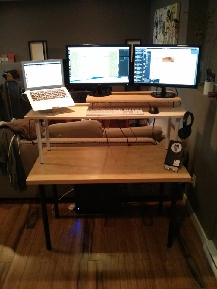 My actual desk setup